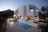 Moderne Villa, grosser Privatpool in Nagüeles Marbella zur Ferienvermietung